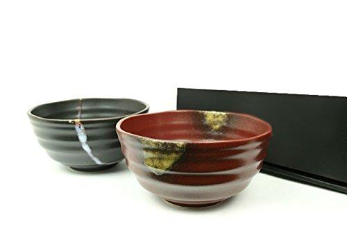 Udon und Soba japanische Suppenschüssel NAMI 2er Set Japan Suppenschalen Ø 16,2 cm, H. 8,3 cm