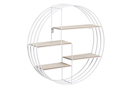 AC Design Furniture 72166 1 Estante, Madera, Blanco, 10 x 45 x 45 cm