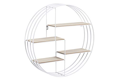 AC Design Furniture Regal Nadine, B: 45 x T:10 x H: 45 cm, Stahl, Weiss