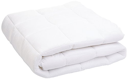 Amazon Basics - Protector de colchón acolchado con tejido micropolar ultrasuave (150 x 200 cm)