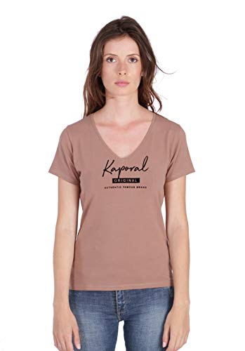 Kaporal Xavra - Maglietta stampata, taglio aderente, da donna Marron Browni XS