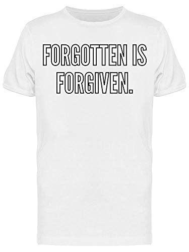 Camiseta masculina Forgotten Is Forgiven, Branco, XXG
