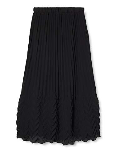 ONLY Damen ONLKELINA MIDI Skirt WVN Rock, Black, 36