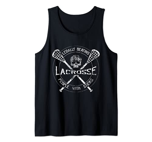 Lacrosse: Legally Beating People With Sticks-Funny Design Camiseta sin Mangas