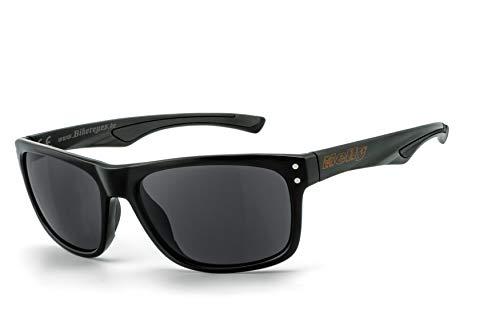 HELLY® - No.1 Bikereyes® | Bikerbrille, Motorradbrille | UV400 Schutzfilter | HLT® Kunststoff-Sicherheitsglas nach DIN EN 166 | Brille: th-2