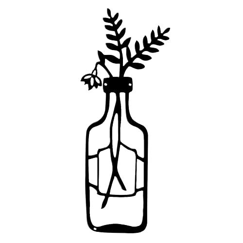 ZXZCHGN Decoración de Pared de Alambre de Flores de Metal, minimalismo Arte de Pared de Metal, Carteles de Pared for hogar Sala de Estar Dormitorio baño Interior al Aire Libre Decoraciones