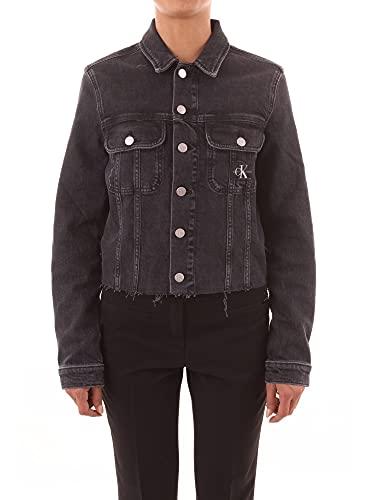 Calvin Klein Cropped 90S Jacket Chaqueta, Denim Black, M para Mujer