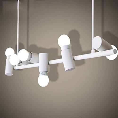 Blanca de la personalidad creativa de la lámpara simple M Restaurante Bar Escritorio Dormitorio Aseo de las luces de la lámpara pendiente Seis Faros color básico de la decoración Lámpara de mesa