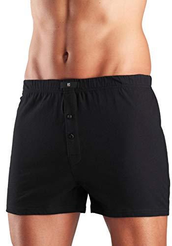 H.I.S weite Herren Boxershorts, Shorts, klassischer Schnitt, 5er Pack (10, schwarz)