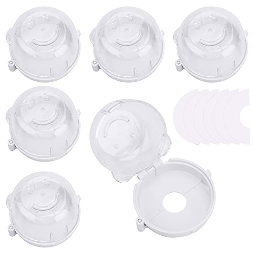 6Pcs Stove Knob Covers Cooker Switch Cover Child Safety Transparent Gas Stove Knob Covers Heat-Resistant Guards Oven Knobs Protector for Electric ovens Other Electrical Products with Button Switches