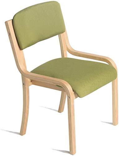 WWWWWWW-DENG barkruk van hout met rugleuning voor thuis en winkels in groene eettafel, avondeten, eenvoudige make-up stoel