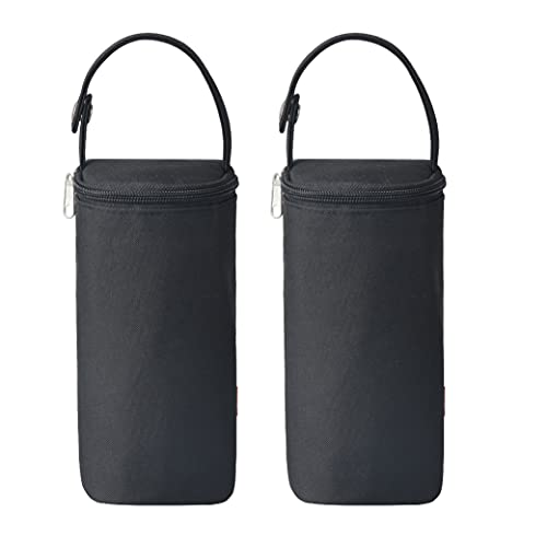 Bellotte Insulated Baby Bottle Bags (2 Pack) - Travel Carrier, Holder, Tote, Portable Breastmilk Storage