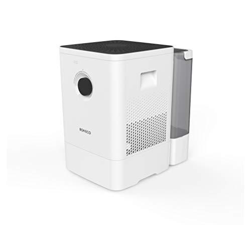 BONECO Luftbefeuchter Luftwäscher W400 - überzeugt durch hohe Leistung und Einfachheit in der Bedienung, weiß