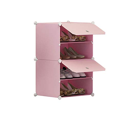 Xiuyun Armoire à chaussures Debout Cube Organisateur de chaussures de verrouillage modulaire pour le placard couloir Chambre (Color : A, Size : L)