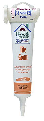 Red Devil 0438 House & Home Restore 438 Pre-Mixed Tile Grout, 5 Oz, Squeeze Tube, Paste, White