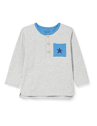 bellybutton Baby-Jungen Langarmshirt T-Shirt, Silver Melange|Gray, 92