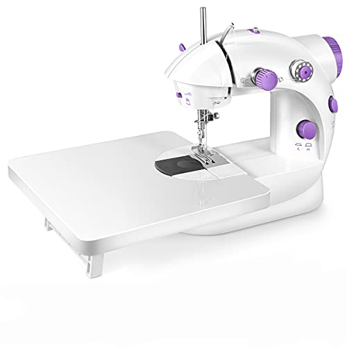 Sewing Machine, Portable Sewing Machine with Built-in Stitches, Capable of Working on Batteries Mini Sewing Machine with Extension Table, Suitable for Beginners, Best Gift for Kids and Women, Space Saver