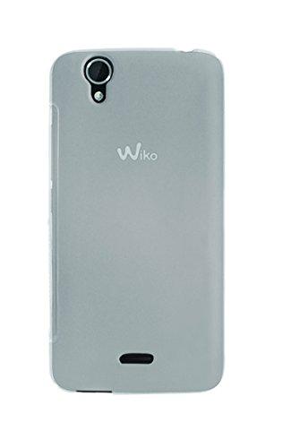 Phonix Gel Protection Plus Hülle mit Bildschirmschutzfolie für Wiko Birdy transparentes Weiss
