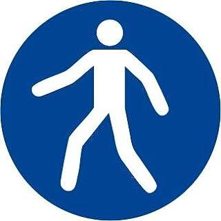 Etichetta adesiva pittogramma segnale di obbligoObbligatorio lavarsi le mani OR011-10 per confezione 50x50mm