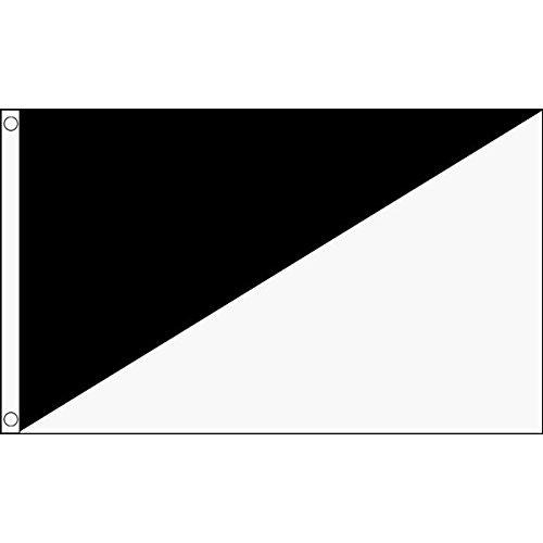AZ FLAG Flagge WEISSER UND SCHWARZER Schiedsrichter 90x60cm - Motorsport RENNLEITUNG ROT WEIß UND SCHWARZ Fahne 60 x 90 cm - flaggen Top Qualität