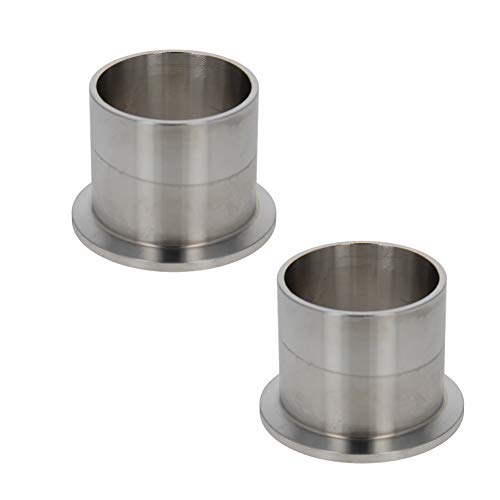 Othmro Tubo de vacío de acero inoxidable 304, brida de 55 mm de diámetro, soldadura de tubo de vacío en virola de 40 mm de longitud 2 unidades