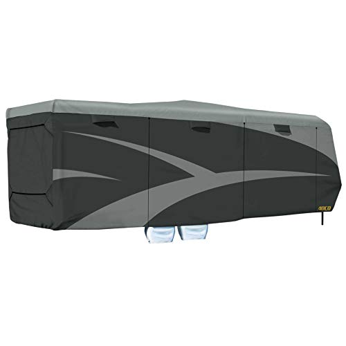 """ADCO 52275 Toy Hauler Designer Series SFS AquaShed Cover, Fits 30'1"""" - 33'6"""" Trailers, Gray"""
