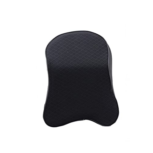 jwj Almohada de viaje para el cuello del coche, almohada de cabeza de viaje (color negro)