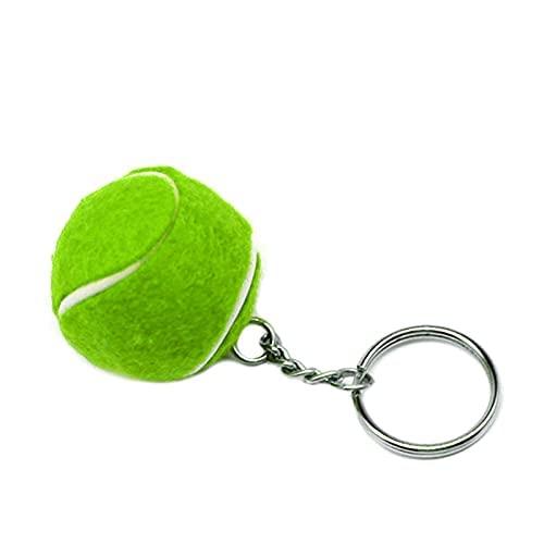 Llavero suave y encantador con diseño de pelota de tenis o cartera, regalo