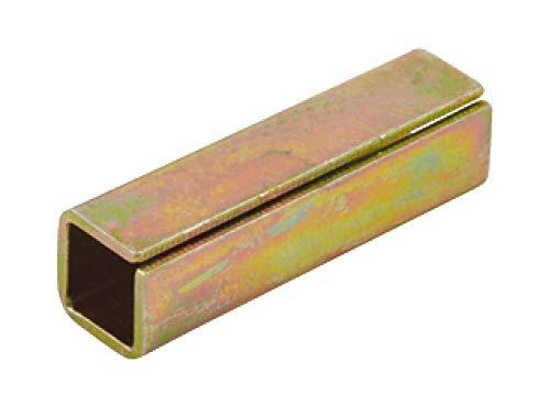 JUVA Ausgleichshülse Eisen Reduzierhülse zum einstecken - H5041 | Stahl blank | Länge 15 mm | Adapterhülse zum nachrüsten von 8 auf 8,5 mm | 1 Stück - Metall-Hülse für Einsteckschlösser & Türschlösser