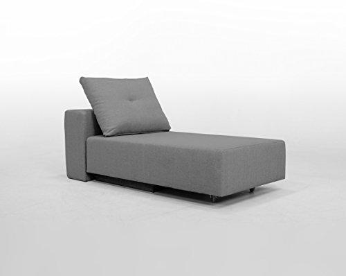 FEYDOM Minisofa BonBon2 - kleines Sofa Recamiere Schlafsofa - pflegeleichter weicher Mikrofaserstoff in grau, Kissen im Lieferumfang enthalten (Mittelgrau)