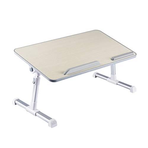 SOLUSTRE Adjustable Laptop Table Laptop Stand for Bed Portable Lap Desk Foldable Laptop Workstation Notebook Riser Lap Tablet Table for Sofa Couch Floor