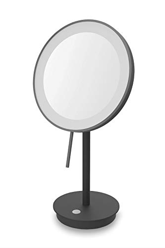 ZACK Alona Kosmetikspiegel, Einheitsgröße, Schwarz