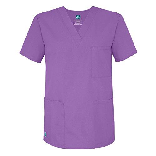 Adar Uniforms Womens 601LAVM Medical Scrubs Shirt, Violett (Lavender), Medium-US