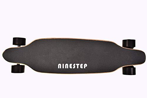 Ninestep 40 km/h Dual-Motor 1000W Hochwertiges Elektro Longboard auswechselbarer Akku und Motorgehäuse mit Zwei Nabenmotoren