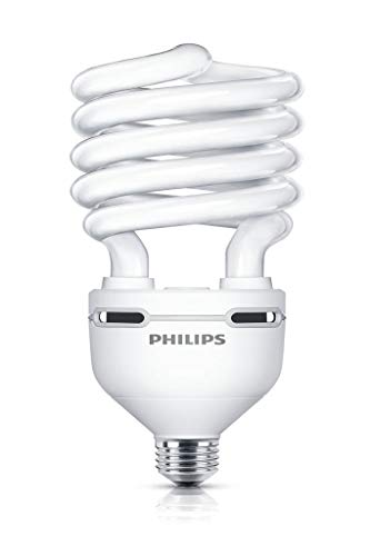 Philips Tornado - Lámpara (250W, Espiral, A, 220-240V, 270 mA) Plata, Color blanco