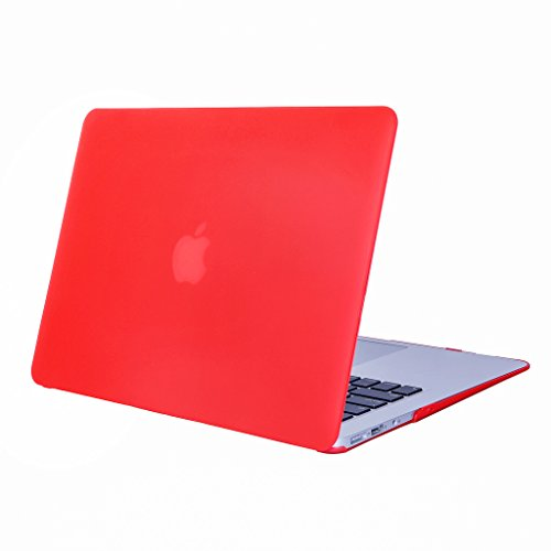 DWaybox - Cover rigida ultra sottile per MacBook da 12', con display Retina A1534, colore: Rosso