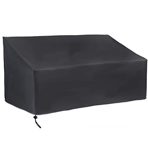 Heritan Cubierta de patio, cubierta de banco de 4 plazas, duradera e impermeable para muebles de patio