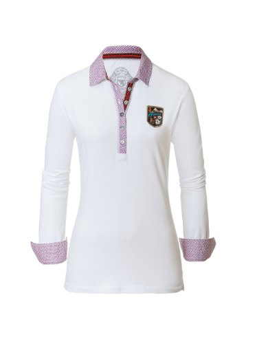 Bogner Fire + Ice Damen Polo T-Shirt Eve, white, 40, 8462-2486