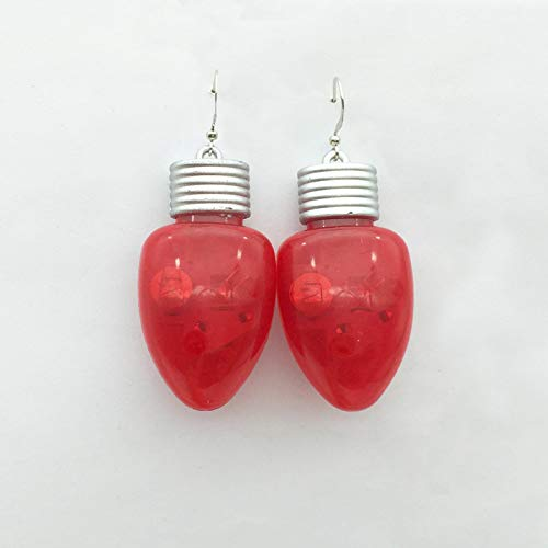 Shiny Led Flash Luminous Light Christmas Earrings Red Teardrop Earrings Holiday Party Jewelry Gift For Women Girls