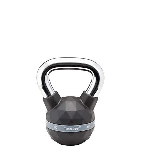Trendy Premium Kettlebell Chrome en haltère à billes de 4 kg – 24 kg, Noir , 4 kg