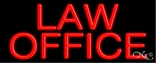 Law Office Glass neon Sign in Made Free shipping New Max 66% OFF #10085 USA