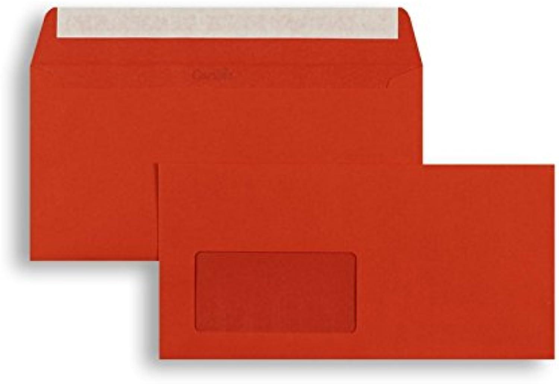 Farbige Briefhüllen Briefhüllen Briefhüllen   Premium   110 x 220 mm (DIN Lang) mit Fenster   Rot (250 Stück) mit Abziehstreifen   Briefhüllen, KuGrüns, CouGrüns, Umschläge mit 2 Jahren Zufriedenheitsgarantie B01DULECWW | Neuankömmling  7f1aea
