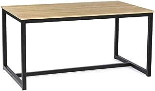 IDMarket - Table à Manger Detroit 6 Personnes Design Industriel 150 cm