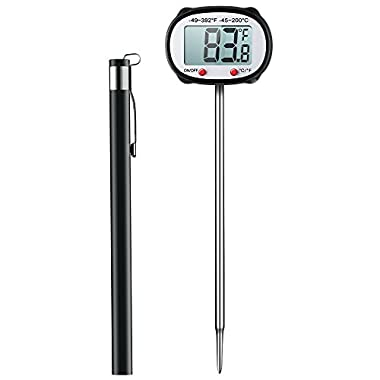 Meat Thermometer, Habor Instant Read Thermometer Candy Thermometer with Swiveling Head and Large LCD Screen for Christmas Thanksgiving Turkey Kitchen BBQ Gas Grill Smoker