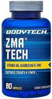 BodyTech ZMA Tech 2500MG (Zinc Magnesium Aspartate) with Vitamin B6, Magnesium Zinc (90 Capsules)