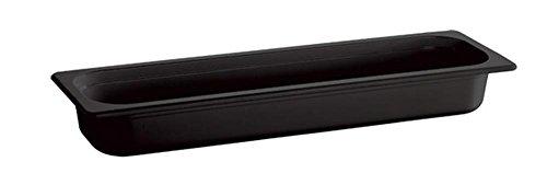 APS 84308 ECOLINE GN 2/4 Melamin Behälter mit Einkerbung am Rand, 53 x 16.2 x 10 cm 4.3 ltr. Schwarz