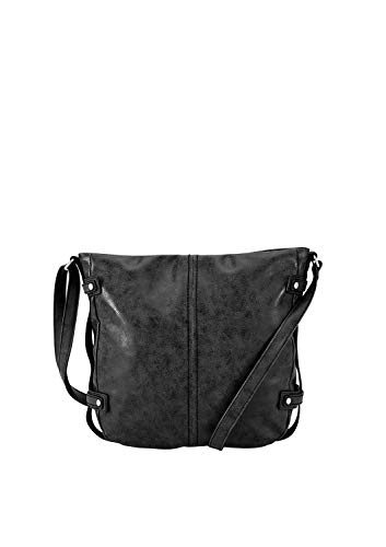 s.Oliver (Bags Damen Shoulder Bag Schultertasche, Schwarz (Black), 7x31x29 cm