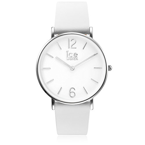 Ice-Watch - CITY tanner White Silver - Women\'s wristwatch with leather strap - 001504 (Small)