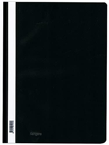 Kangaro - Carpeta (25 unidades, A4, polipropileno), color negro