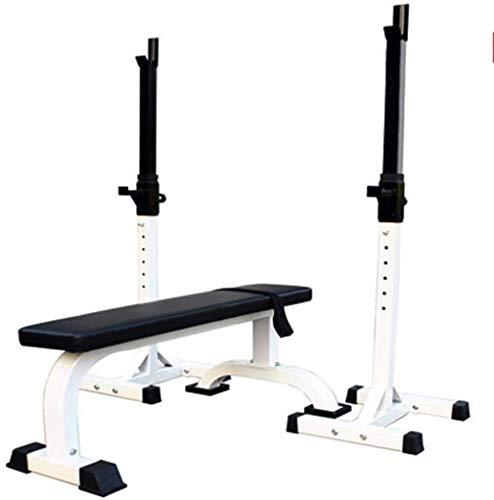 MUZIDP Banco de pesas de entrenamiento de fuerza Banco de sentadillas ajustable para pesas banco de pesas banco de presión para el hogar, equipo de entrenamiento deportivo (color: blanco)